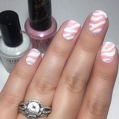 I love this cute, cute, cute! manicure by @nailsbyjoha Thank you (via Instagram) • Using: Zebra Nail Vinyls www.snailvinyls.com