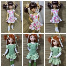 OOAK Handmade Spring Outfits for MSD BJD by Kaye Wiggs by MeadowDoll