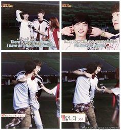 I don't think she likes you touching Woobin... | allkpop Meme Center