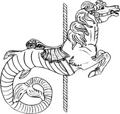 Free Carousel Horse Coloring Pages 3 | Free Printable Coloring Pages ...