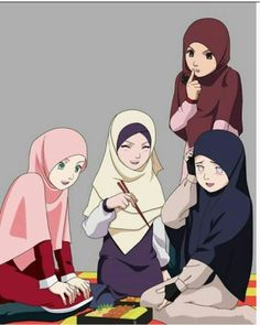 Naruto girls Hijab Ver.