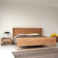 Oak Nordic Bed - Lekker Home Murphy Bed Ikea, Murphy Bed Plans, Bed Frame Design, Bed Design, Home Bedroom, Bedroom Decor, Bedroom Furniture, Furniture Design, Nordic Furniture