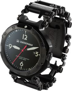 Leatherman Tread Multi-Tool Bracelet and Watch in Black