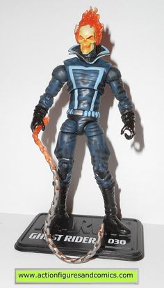 hasbro toys action figures for sale to buy MARVEL UNIVERSE 2010 series 2 #030 - GHOST RIDER (light blue stripes) 100% COMPLETE Condition: Overall excellent. nice paint, nice joints. nothing broken, da