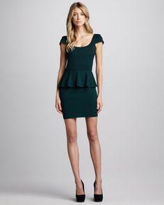 Ponte Peplum Dress by Amanda Uprichard at Neiman Marcus.