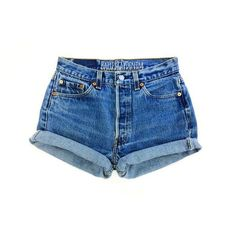 Vintage Levi Shorts High Waisted Denim Shorts Jeans All Sizes Back to ❤ liked on Polyvore featuring shorts, jean shorts, high waisted jean shorts, vintage shorts, high waisted shorts and high-waisted shorts