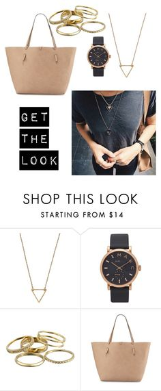 """Get the look"" by clairepardoo ❤ liked on Polyvore featuring Wanderlust + Co, Marc Jacobs, Kendra Scott and Neiman Marcus"