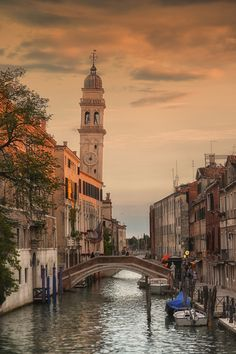 The Leaning Tower of S. Giorgio dei Greci, Venice, Italy