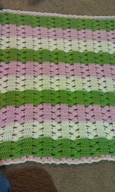 Light & Lacy Crochet Baby Blanket with pattern