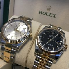 Classic Rolex styling with a modern look, but in which size. Datejust 36 or Datejust 41? You decide!!! #DailyDuo