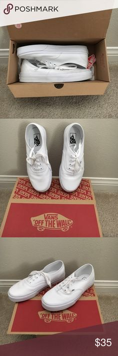 Womens vans size 7.5 White Vans size 7.5 womens. Used only one time! Perfect condition. Vans Shoes Sneakers
