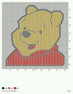 Winnie the POOH'S FACE by HOPE BAER -- WALL HANGING