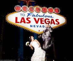 Las Vegas sign Vegas wedding