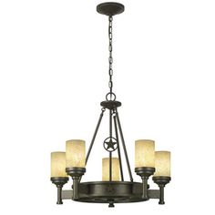 Portfolio Thoroughbred 5-Light Aged Bronze Chandelier ((MAYBE THIS above dining room table? Seems quite big... so maybe something smaller?!))