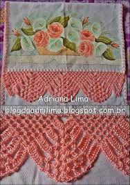 Image result for barradinhos em croche para panos de prato telma rocha croche
