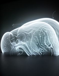 Immaterials – the form of meta data « this is onformative a studio for generative design. Arte Yin Yang, Instalation Art, 3d Studio, Generative Art, Light And Space, 3d Prints, Light Painting, Light Art, Concept Art