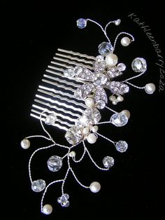 Willow collection  Comb 008   Crystal & by KathleenBarryJewelry, #wedding #bridal #hair #accessories