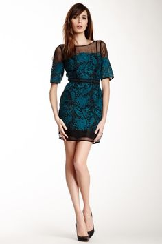 Yoana Baraschi Blue Label Arabesque Embroidered Silk Cocktail Dress by Yoana Baraschi on @HauteLook