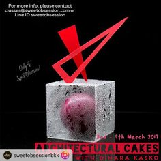 3-9 March Bangkok! . ARCHITECTURAL CAKES WITH DINARA KASKO (intermediate-professional level)!!! I am incredibly excited to announce our next guest instructor, the wonderfully talented @dinarakasko , who will be coming to teach two hands-on masterclasses during 3rd - 9th March 2017!  With a background in architectural design, Dinara has created a huge buzz in the pastry community with her amazingly unique and innovative geometric cake designs, using her very own silicone moulds that were…