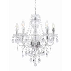 $110 at bunnings for Natasha's new room?    Light Pendant 240v Mercator 5lt Chrome Dolce L1181/5 - Bunnings Warehouse
