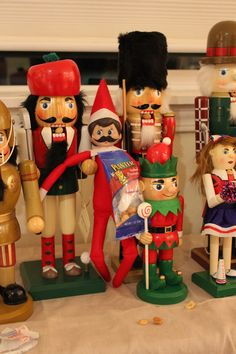 Hanging out with the Nutcrackers and those sneaky elves put nuts in their mouth to crack!  We used Mustache Washi tape for the decor