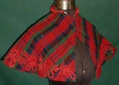 1830-40 red plaid pelreine