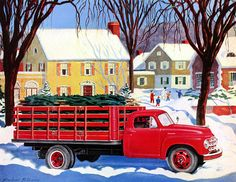 Plan59 :: Retro Vintage 1950s Christmas Ads and Holiday Art :: Santas Studebaker