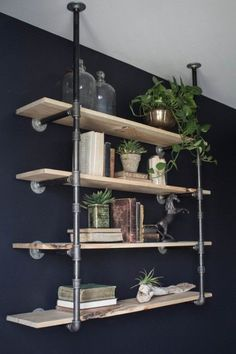 Here's a great tutorial for installing Industrial Style Open Pipe Shelving from Joanna at Magnolia Farms / Fixer Upper.