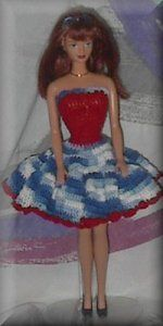 Barbie crochet pattern.