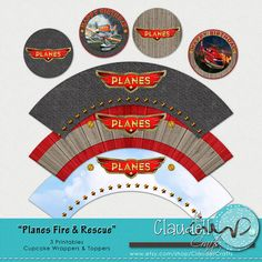 Planes Fire and Rescue Inspired Printable by ClaudellCrafts, $3.50