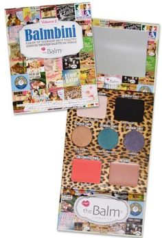theBalm Balmbini Palette Volume 2 by theBalm. $20.10. This irresistible, portable compact includes everything you need to create a flawless face on the fly.. Can be applied wet or dry.. Includes 4 vibrant shadows/shadow liners, a luminizing highlighter, lip/cheek cream and nude lip gloss.. theBalm® Balmbini Babies of theBalm® Face Palette features theBalm®'s favorite eye, lip, and cheek colors at a great value so you can gift a flawless face to everyone on your li...