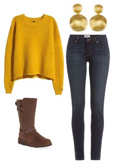 """""""Outfit Idea by Polyvore Remix"""" by polyvore-remix ❤ liked on Polyvore featuring Paige Denim, Marco Bicego, H&M and UGG Australia"""