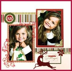 Darling Christmas Page Layout...quick & easy.