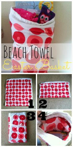 How to make a Beach Towel Easter Basket (and lots of other alternatives to a traditional basket!) #easter