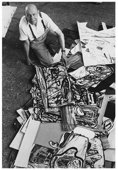 Jean Dubuffet, 1901-1985, French, founder of the Art Brut movement.