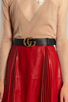 Gucci|Leather belt|NET-A-PORTER.COM