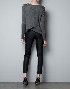 OPEN BACK JUMPER WITH APPLIQUÉS ON SHOULDER - Knitwear - Woman - ZARA United States