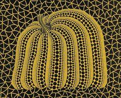 Yayoi Kusama (Japanese, b.1929). Pumpkin, 2002. Acrylic on canvas.
