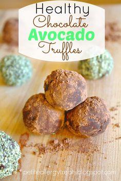 Petite Allergy Treats: Avocado Truffles-Free of the Top 8 Allergens