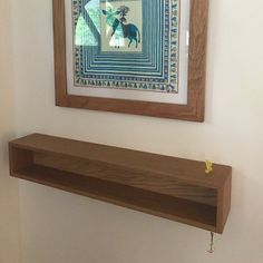 Modern Entryway Organizer mit Magnetic Key Hooks in Choice of Hardwood, Mid Century Modern Style Floating Media Console, Floating Desk, Floating Nightstand, Floating Shelves, Portland Maine, Modern Bedside Table, Entryway Console Table, Rough Sawn Lumber, Small Nightstand