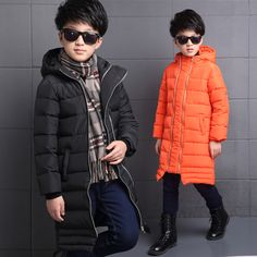 2016 Winter New Boys Thicken Warm X-Long Overcoat Boy Kids Zipper Cotton-Padded Boys Parkas Children Clothes Thermal Cold-proof