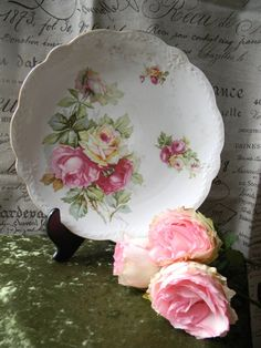 Cottage Roses plate