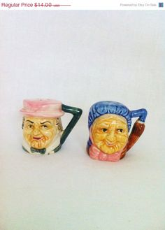 Vintage Burlington Toby Jug Collectable Character Mug Delicious In Taste Pottery