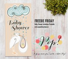 A little bit of POP - FREE Baby Shower Invitation Printable #free #babyshower #invitation #printable #download #baby