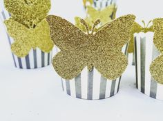 A personal favorite from my Etsy shop https://www.etsy.com/listing/468989809/gold-glitter-butterfly-snack-cups-in