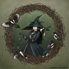 Magpie Witch by LiaSelina on DeviantArt