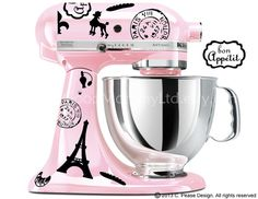 Vintage French / Paris Decal Kit for your Kitchenaid Stand Mixer ***I so want this in grey or black***
