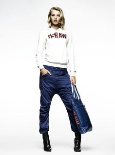 G-star - DAZZLE LOOSE TAPERED PANT & TOWN HOODED SWEAT
