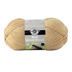 Loops & Threads Woolike Yarn, Tan, 678 yds, Size Super Fine 1, 3.5 oz, 100 g, 85% acrylic, 15% nylon