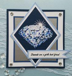 Diamonds are a girls best friend gemaakt door Juanita Scrapbook Cards, Scrapbooking, Diamond Are A Girls Best Friend, Copic, Art Blog, Best Friends, Diamonds, Frame, Beat Friends